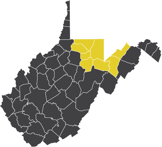 Areas we serve in North Central West Virginia